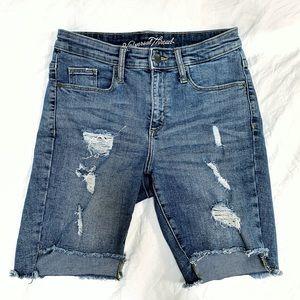 Universal Thread High Rise Denim Bermuda Shorts